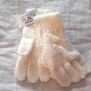 Childrens Place Girls S/M (4-7) Cloud Knit Gloves